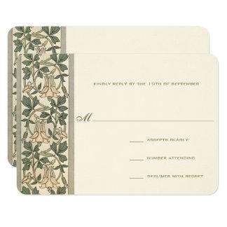 Art Nouveau Honey Suckle Wedding RSVP Card