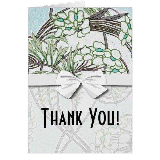 art nouveau intricate floral nature design card