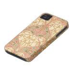 art nouveau intricate love hearts pattern Case-Mate iPhone 4 case