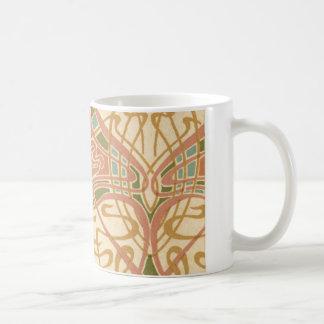 art nouveau intricate love hearts pattern mugs