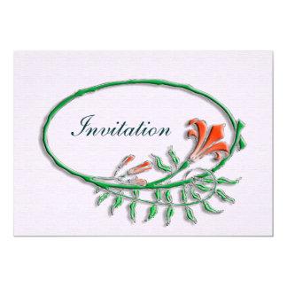 """Art Nouveau invite 5"""" X 7"""" Invitation Card"""