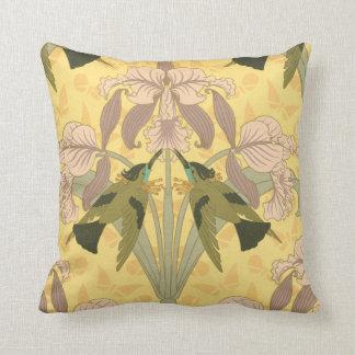 Art Nouveau Iris Design Pillow