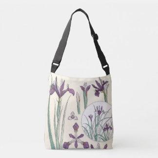 Art Nouveau Iris Flowers Floral Garden Tote