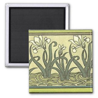 Art Nouveau Irises - Magnet
