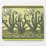 Art Nouveau Irises - Mousepad
