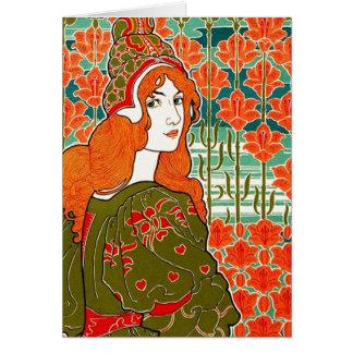 Art Nouveau ~ Jane by Louis John Rhead Card