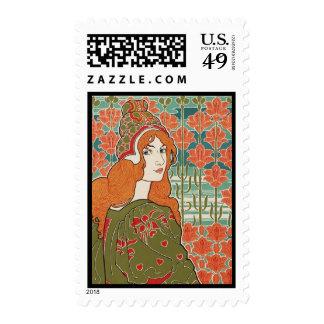 Art Nouveau ~ Jane By Louis John Rhead Stamps
