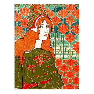 Art Nouveau ~ Jane by Louis John Rhead Postcard