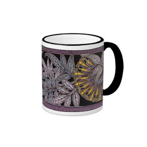 Art Nouveau 'Jasmine' Ringer Mug