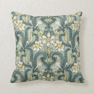 Art Nouveau Jonquil Design Pillow