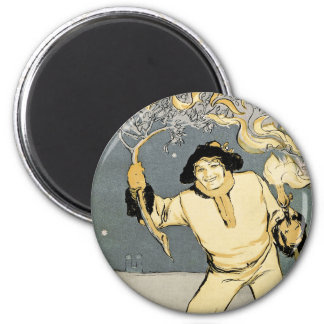 Art Nouveau:  Jugend Art 2 Inch Round Magnet