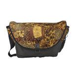 Art Nouveau Klimt Gold Brown Red Messenger Bag
