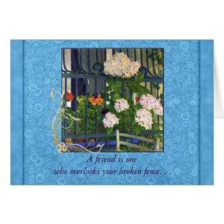 Art Nouveau Kolo Moser Geraniums Iron Fence Friend Card