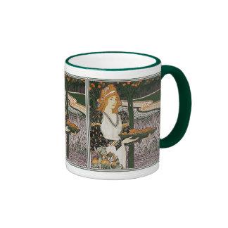 Art Nouveau - L.Rhead - Thanksgiving Coffee Mugs