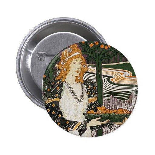 Art Nouveau - L.Rhead - Thanksgiving Pins