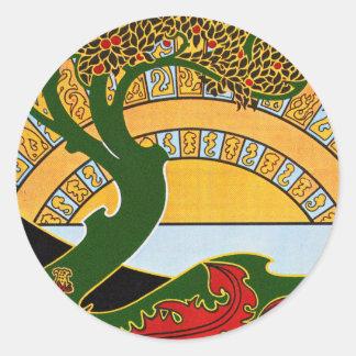 Art Nouveau - La Libre Esthetique by Combaz Round Stickers