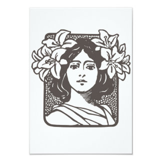 Art Nouveau Lady - Bridal Shower Invitations