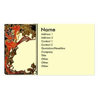 Art Nouveau Lady Business Card