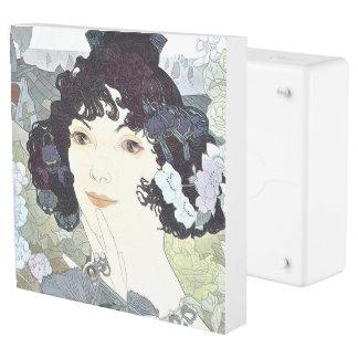 Art Nouveau Lady Flowers Floral Inlet Outlet Cover