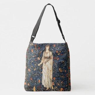 Art Nouveau Lady Flowers Garden Birds Tote Bag