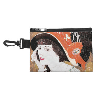 Art Nouveau Lady Hat Finery Twenties Bag