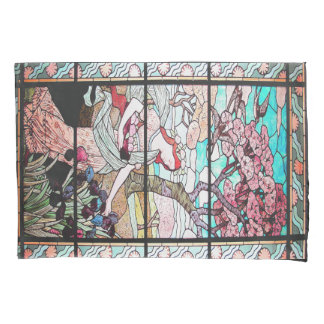 Art Nouveau Lady Picking Flowers Floral Pillowcase