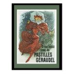 Art Nouveau Lady Post Card