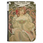 Art Nouveau Lady Reading Girly Kindle Case