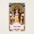 Art Nouveau Lady with Lilies Business Card