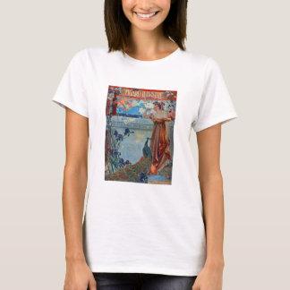 Art Nouveau Lady with Peacock T-Shirt