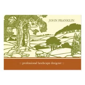 Art Nouveau Landscape Chubby Business Card