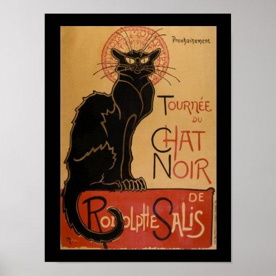 83f412e9f6b Art Nouveau Le Chat Noir Vintage Black Cat Poster