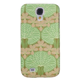 art nouveau leafy green floral pern design art galaxy s4 cover
