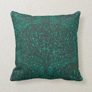 Art Nouveau Leafy Tree Swirls Pillow