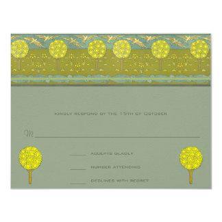 Art Nouveau Lemon Tree Response Card
