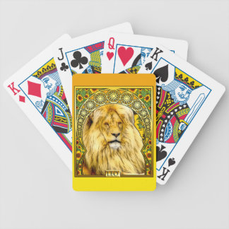 Art Nouveau Leo Bicycle Playing Cards