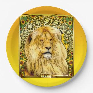 Art Nouveau Leo Paper Plates