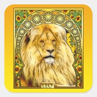 Art Nouveau Leo Square Sticker