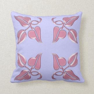 Art Nouveau light purple leaves four corners Throw Pillow
