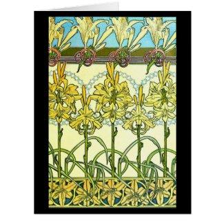 Art Nouveau Lilies 1901 Card