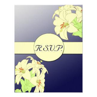 Art Nouveau Lillies Wedding R.S.V.P. Custom Invites