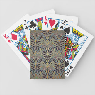 Art Nouveau Lily Pattern Bicycle Playing Cards