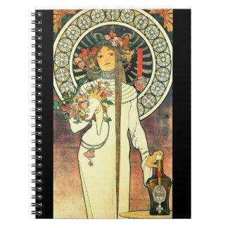 Art Nouveau Liqueur Ad 1898 Notebook