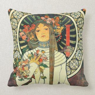 Art Nouveau Liqueur Ad 1898 Throw Pillow