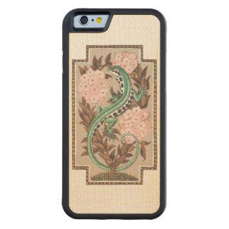 Art Nouveau Lizard Carved® Maple iPhone 6 Bumper Case