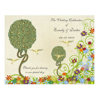Art Nouveau Love Bird Wedding Flyer