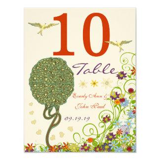 Art Nouveau Love Bird Wedding 4.25x5.5 Paper Invitation Card