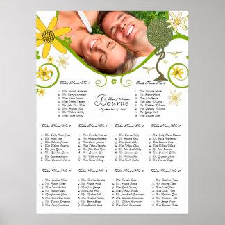 Art Nouveau Love Bird Wedding Poster