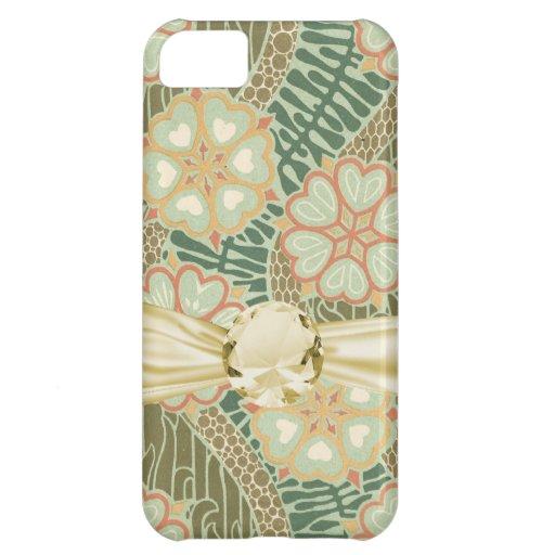 art nouveau lovely heart floral pattern art iPhone 5C case