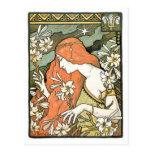 Art Nouveau masterpiece: Paul Berthon Ermitage Postcard